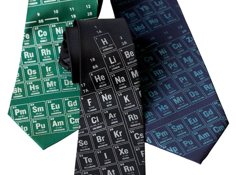 Periodic Table Necktie. Science Print Tie