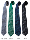 Periodic Table printed neckties, chemistry ties, by Cyberoptix