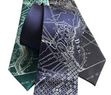 Philadelphia Vintage City Map Tie, Pennsylvania Necktie, By Cyberoptix