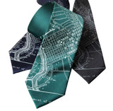 Philadelphia Map Wedding Necktie, Ties for Men, By Cyberoptix