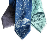 Pisces Neckties. Two Fishes Zodiac Constellation Print Ties, by Cyberoptix