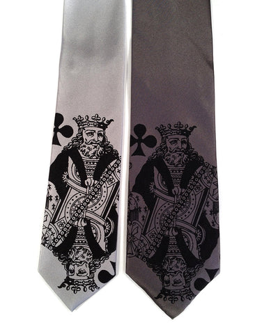 "Playing Card Necktie. ""Poker Face"" King tie."