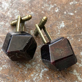 Polished Garnet Crystal Cufflinks