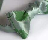 Seafoam tie with green clover ink.