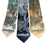 Portland Oregon Map Neckties, Pacific Northwest Ties, by Cyberoptix