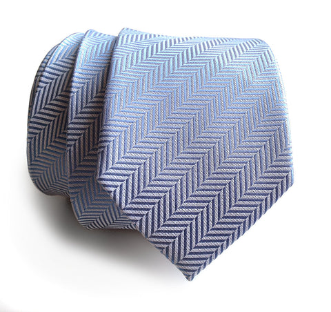 Powder Blue Herringbone Silk Necktie