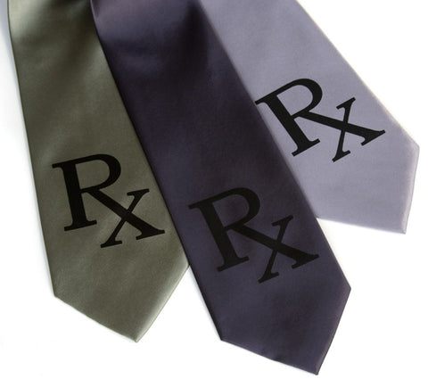 Prescription Rx Silk Necktie