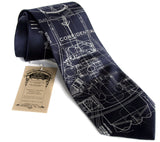 Project Mercury Necktie, navy silk tie.