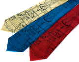 Project Mercury Rocket blueprint neckties.