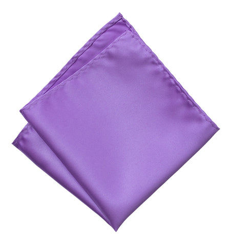 Purple Pocket Square. Solid Color Satin Finish, No Print