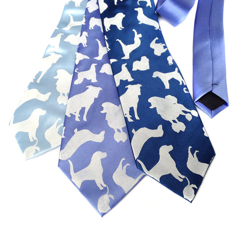 "Dog Print Necktie. ""Putting on the Dog"" microfiber tie."