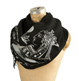 Queen of Spades Card Linen-Weave Scarf, Soft Pashmina, by Cyberoptix