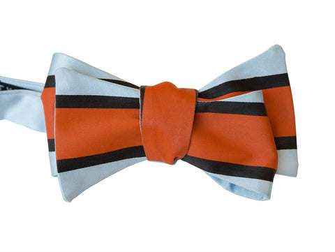 Racing Stripes Bow Tie: Le Mans Mirage Print Tie