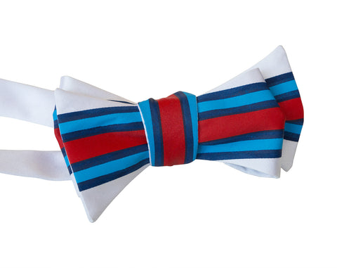 Racing Stripes Bow Tie: Shaken & Stirred Print Tie