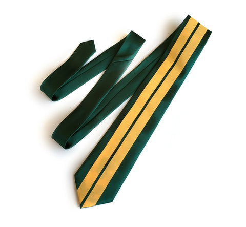 Racing Stripes: British Racing Green Microfiber Necktie