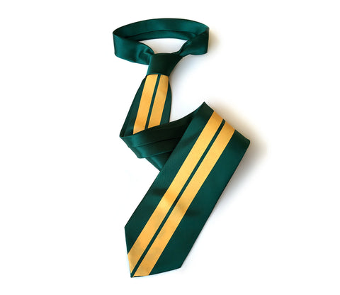 Racing Stripes: British Racing Green Silk Necktie