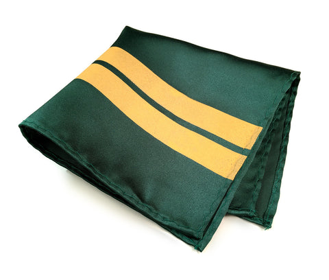 Racing Stripes: British Racing Green Microfiber Pocket Square