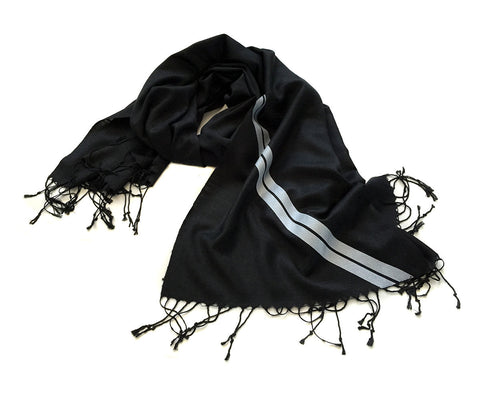 Racing Stripes: Le Mans First Place Linen-Weave Pashmina