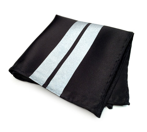 Racing Stripes Pocket Square: Le Mans First Place microfiber handkerchief