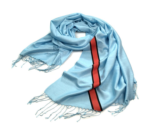 Racing Stripes Scarf: Le Mans Mirage linen-weave pashmina
