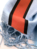 Racing stripes scarf: Gulf-inspired Livery.