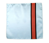 Racing stripes pocket square: Gulf-inspired Livery.
