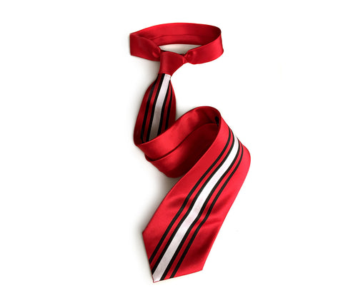 Racing Stripes: Scuderia Microfiber Necktie