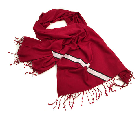 Racing Stripes: Scuderia Linen-Weave Pashmina