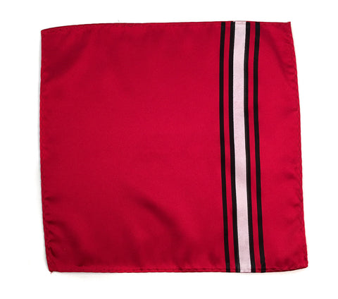 Racing Stripes: Scuderia Microfiber Pocket Square