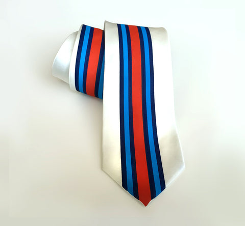 Racing Stripes Tie: Shaken & Stirred Microfiber Necktie