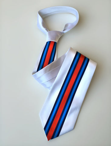 Racing Stripes Necktie: Shaken & Stirred silk tie