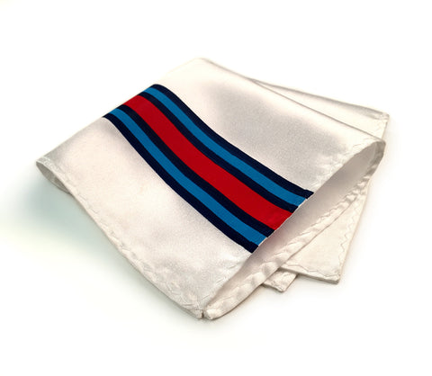 Racing Stripes Pocket Square: Shaken & Stirred handkerchief.
