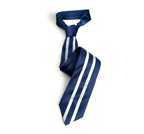 Racing Stripes: Side Oiler Microfiber Necktie