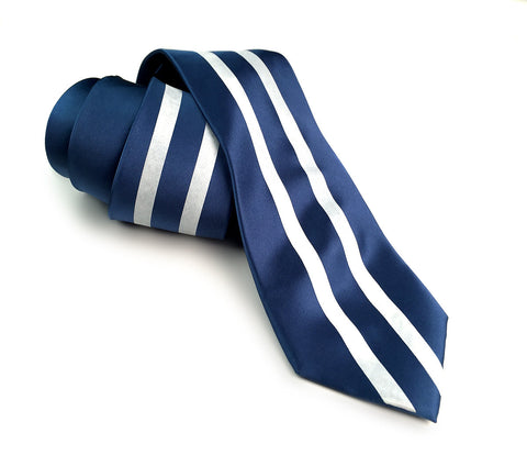 Racing Stripes: Side Oiler Silk Necktie
