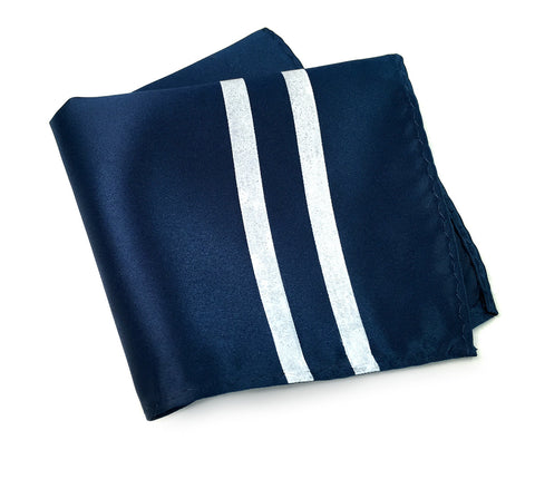 Racing Stripes: Side Oiler Microfiber Pocket Square