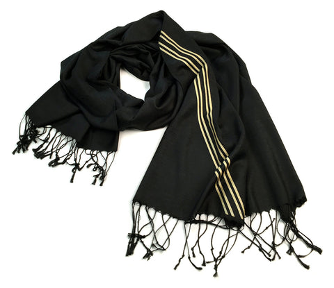 Racing Stripes: Special Formula Linen-Weave Pashmina