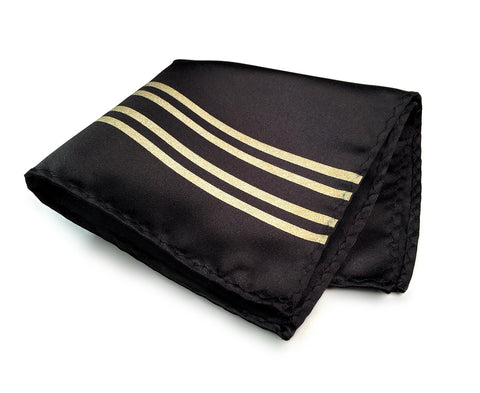 Racing Stripes: Special Formula Microfiber Pocket Square