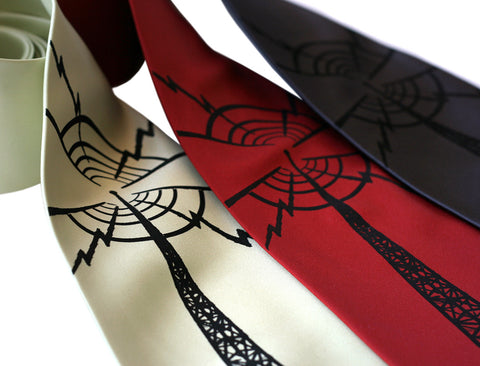 Radio Tower Silk Necktie