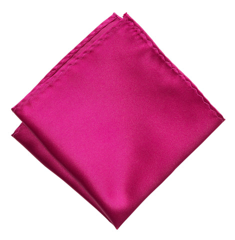 Raspberry Pocket Square. Red-Purple Solid Color Satin Finish, No Print