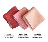Pink Linen Pocket Squares, wedding sets by Cyberoptix