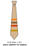 light brown resistor code tie, by cyberoptix