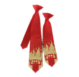 Red Robot kids necktie. Boys clip on tie.