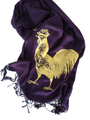 Royal Rooster Pashmina Scarf.