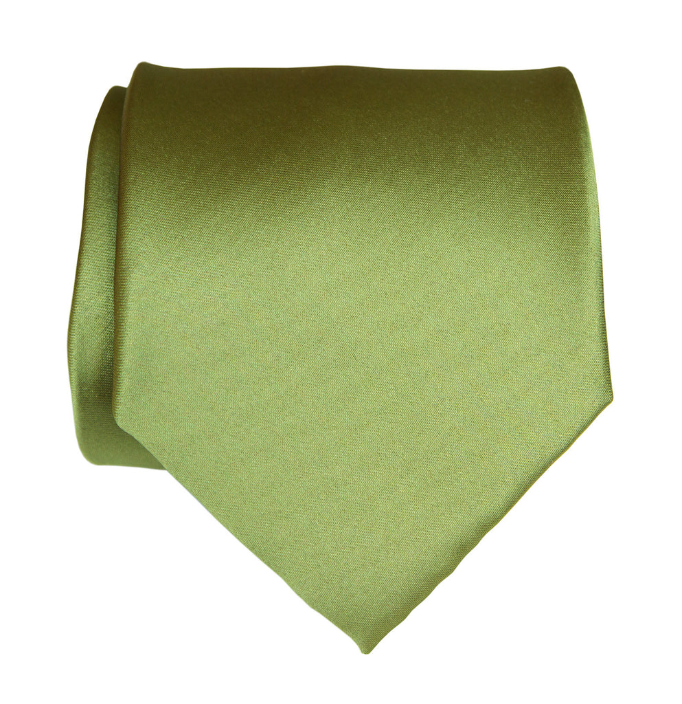 Sage green necktie yellow green solid color satin finish - What color is sage green ...