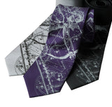 Zodiac Print Neckties, Gifts for Astrology Lovers, by Cyberoptix