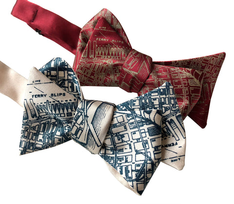 San Francisco Bay Map Bow Tie. Vintage California Map Print