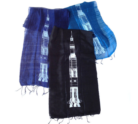 Saturn V Rocket Silk Scarf