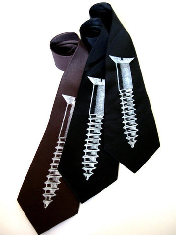Screw Silk Necktie