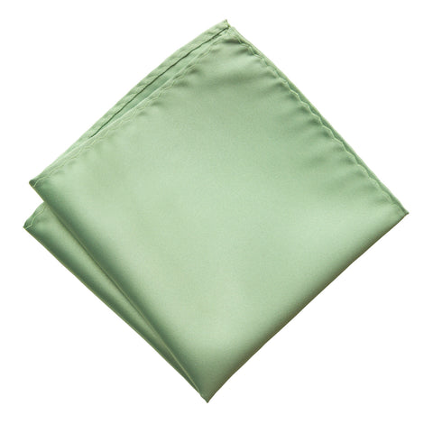 Seafoam Green Pocket Square. Solid Color Satin Finish, No Print