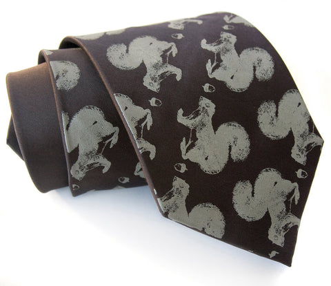Secret Squirrel Silk Necktie